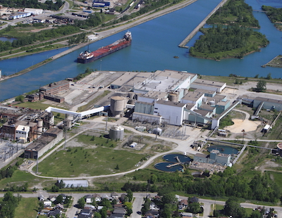 IMAGE: HOPA Ports and Bioveld plan to turn this site along the Welland Canal at Thorold, Ont., into the first of a series of multimodal hubs as part of the Niagara Ports development plan. (Courtesy HOPA)