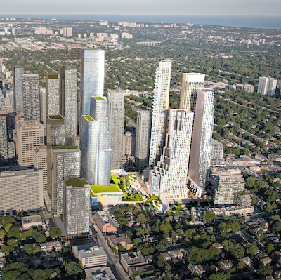 IMAGE: A rendering of the proposed new Canada Square at Yonge and Eglinton in Toronto, which is to be redeveloped by Oxford Properties Group and CT REIT. (Courtesy Oxford)
