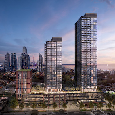 IMAGE: Grand Central Mimico in the Toronto suburb of Etobicoke is a new, master-planned mixed-use development by VANDYK Properties. (Courtesy VANDYK)