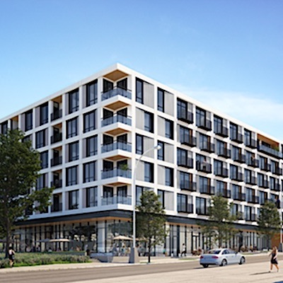 IMAGE: Lonsdale Square in North Vancouver, a partnership with Darwin Properties, will be Minto Apartment REIT's entrance into the Vancouver-area market. (Courtesy Minto)