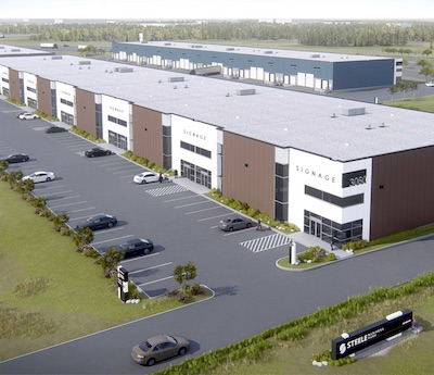 IMAGE: Developer MMI Real Estate Asset Management is building the $46-million, 220,000-square-foot Steel Business park at CentrePort Canada in Winnipeg. (Courtesy MMI)