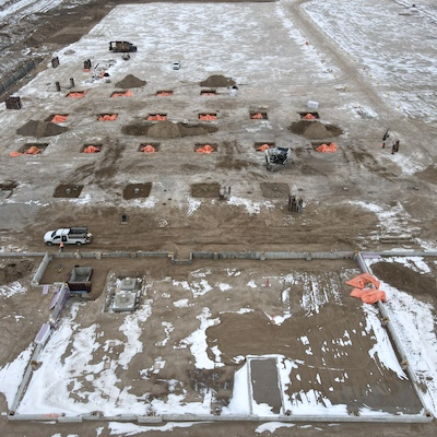 IMAGE: Vicano Construction and developments has broken ground on this 518,705 square foot distribution centre in Brantford, Ont. The facility is being constructed for Hershey.
