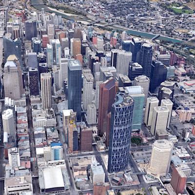 IMAGE: Calgary's downtown office market could soon top the 30 per cent vacancy rate, says Avison Young in its year-end 2020 report. (Google Maps)