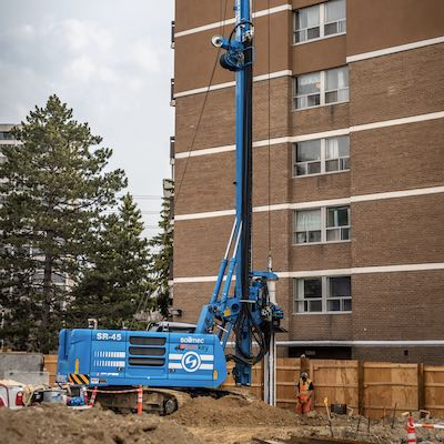 IMAGE: STS Geothermal will be able to offer both drilling and shoring services for builders or building owners who want to install geothermal systems. (Courtesy STS Geothermal)