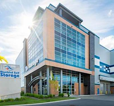 IMAGE: 19 Esander Dr. in Toronto is one of three Bluebird Self Storage locations in the GTA acquired by NYX Capital. (Courtesy NYX)