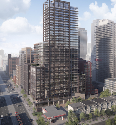 IMAGE: Although Tricon Residential is known mainly as the owner of single-family rental homes, it also has a growing multifamily portfolio in the Greater Toronto Area. Once such development is the 36-storey The Taylor at 57 Spadina Ave. (Courtesy Tricon Residential)