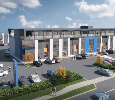 IMAGE: PC URban plans its 10th industrial strata development at 1764 Island Highway in Victoria. (Courtesy PC Urban)