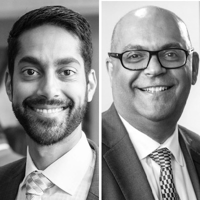 IMAGE: Sameer Gulamani, left, is managing director and general counsel for Bayview Hospitality Group. Alnoor Gulamani is the company's founder and president. (Courtesy Bayview Hospitality Group)