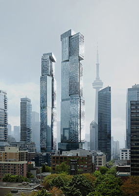 Westdale Properties, Frank Gehry-designed, mixed-use project on King Street West, Toronto.