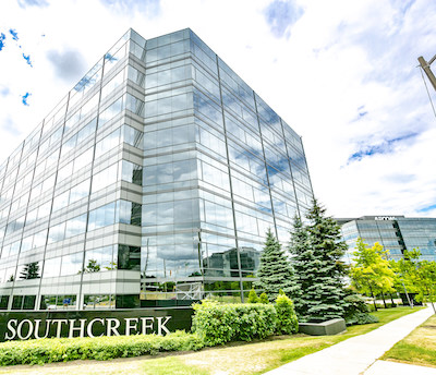IMAGE Soneil Investments has acquired these Markham office towers at 55 and 105 Commerce Valley Way. (Courtesy Soneil Investments)