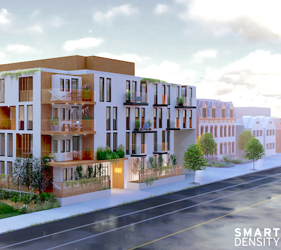 """IMAGE: A City of Toronto pilot project could help fill the """"Missing Middle"""" housing gap. (Courtesy Smart Density)"""