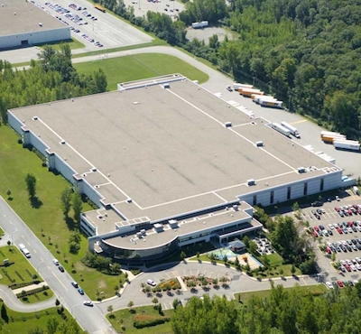 IMAGE: The L'Oreal office and distribution centre at 3500 Douglas-B.-Floreani St. in the Montreal Borough of Saint-Laurent has been acquired by Concert. (Courtesy CBRE)