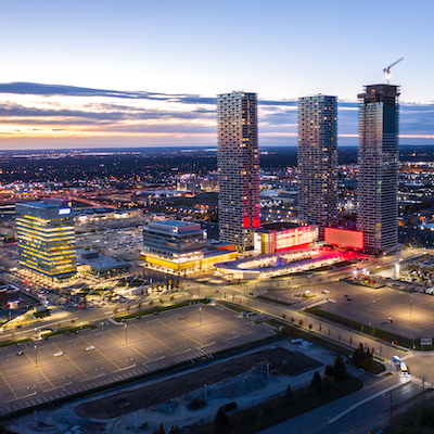 IMAGE: The SmartVMC development at the Vaughan Metropolitan Centre just north of Toronto. (Courtesy SmartCentres)