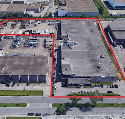IMAGE: Groupe Quint has acquired this industrial property in Greater Montreal, its latest purchase in the established Anjou district. (Courtesy Sutton Group)