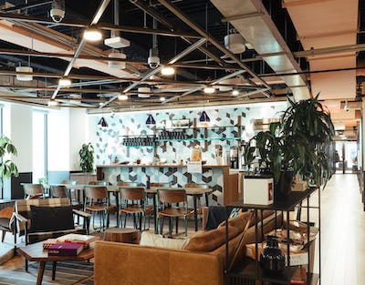 IMAGE: WeWork's Place Ville Marie location in Montreal. (Courtesy WeWork)