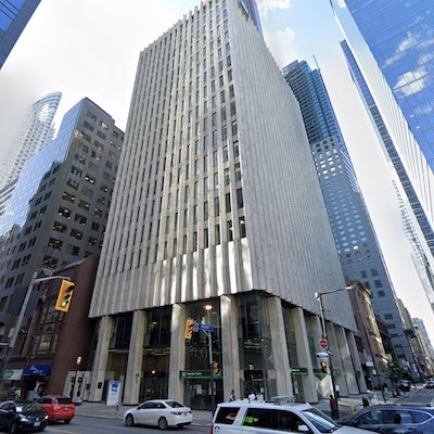 IMAGE: The 20-storey, 110 Yonge St. office tower. (Google Maps)