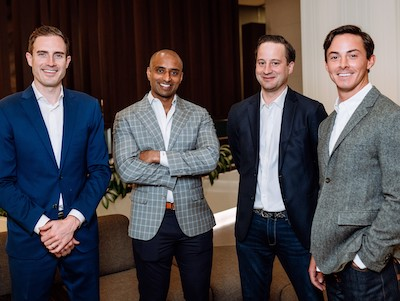 IMAGE: The four founding partners of Axia Real Assets are, from left, Greg Stevenson, Josh Varghese, Darrell Shipp and Kelsey Boland. (Courtesy Axia)