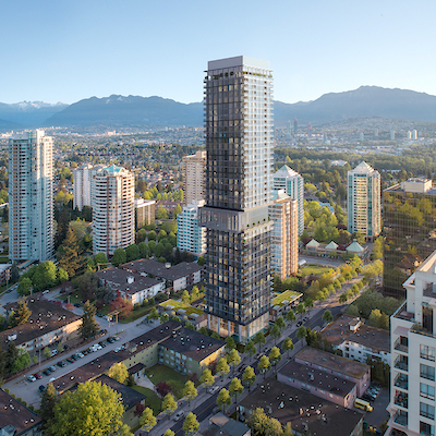 IMAGE: Bosa Properties' Central Park House in Burnaby is Gensler architects' first Canadian residential tower. (Courtesy Gensler/Bosa Properties)