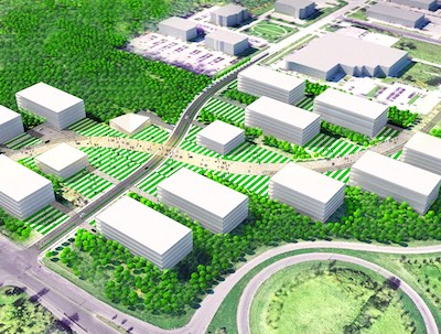 IMAGE: A rendering of the potential layout for Phase II of BioTech City in the Greater Montreal City of Laval. (Courtesy citebiotech.com)