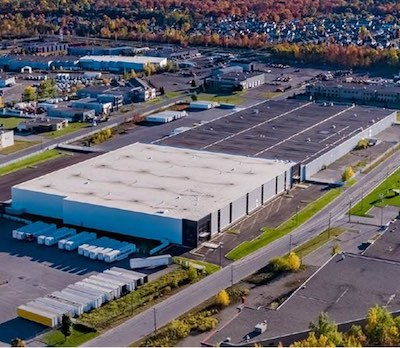 IMAGE: Dream Industrial REIT has acquired this 366,000-square-foot, class-A distribution and warehousing asset in Terrebonne in Greater Montreal. (Courtesy Dream Industrial REIT)