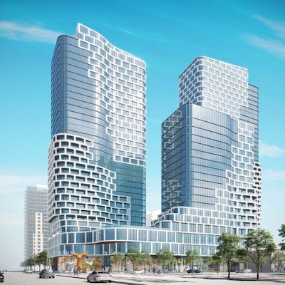 IMAGE: In Ottawa, Westdale and main + main are partners on the Albert + Lyon multiple-tower, mixed-use development. (Courtesy Westdale)