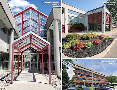 """IMAGE: Crown Realty Partners acquired the office component of the so-called """"Huntley portfolio"""" in the Greater Toronto Area. (Courtesy Crown Realty Partners)"""