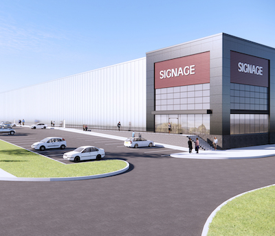 IMAGE: Fengate is currently having this 230,000-square-foot industrial building constructed at 1213 International Blvd. in Burlington's Bronte Creek Corporate Centre. (Courtesy Fengate)