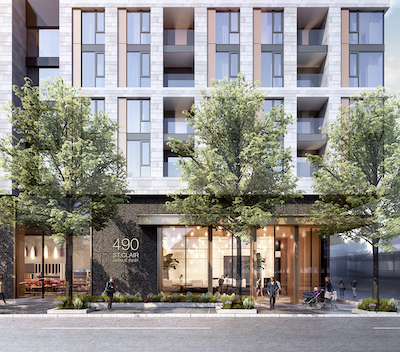 IMAGE: Canderel is now a 50 per cent partner in this three-tower condo development at 490 St. Clair West in midtown Toronto. (Courtesy Canderel)