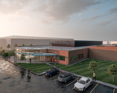 IMAGE: Stack Infrastructure will launch its first Canadian data centre campus in a joint venture with developer First Gulf at 3950 Danforth Ave., in Toronto. (Courtesy First Gulf)