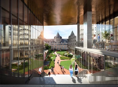 IMAGE: Jesta Group has unveiled new details about its Place Gare Viger development in Montréal, including Novartis as anchor tenant for its new office building. (Courtesy Jesta Group)