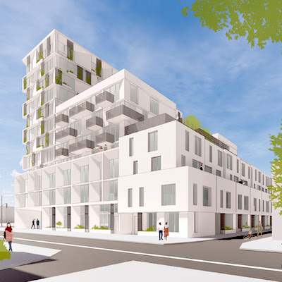 IMAGE: An artist's rendering of TAS planned development at 880 Eastern Ave. in Toronto. (Courtesy TAS)