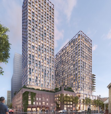 IMAGE: Tricon Residential plans to build two rental apartment towers on a Richmond Road East site in Toronto which it has acquired from ONE Properties. (Courtesy Tricon Residential)