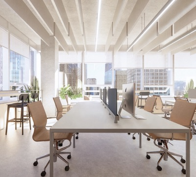 IMAGE: Rendering of an interior space at And-Co, a new office concept being created in Vancouver by Arpeg Group. (Courtesy Arpeg / And-Co)