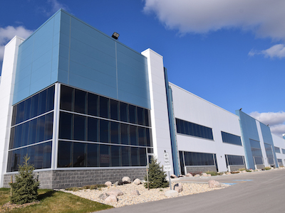 IMAGE: 19 Ronn is part of the BrookPort business park at CentrePort, just outside Winnipeg. (Courtesy Shindlico Realty)