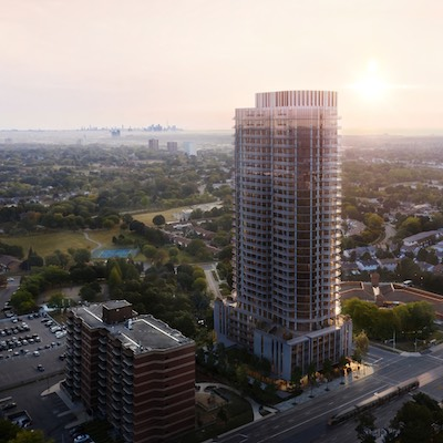 IMAGE: Edenshaw Developments has just launched Alba, it's newest condo high-rise project, in downtown Mississauga. (Courtesy Edenshaw)