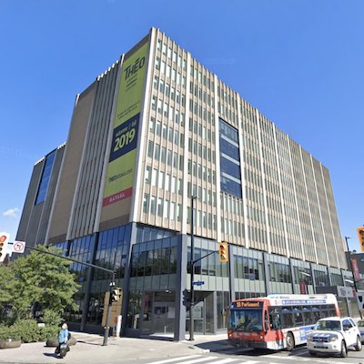 IMAGE: A recently converted student housing facility at 305 Rideau St., in Ottawa, known as THEO, has been acquired by Alignvest Student Housing REIT. (Courtesy Google Maps)
