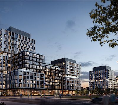 IMAGE: RioCan Living's Verge Condominiums will comprise of 545 new residences on The Queensway in Toronto. (Courtesy Norm Li)