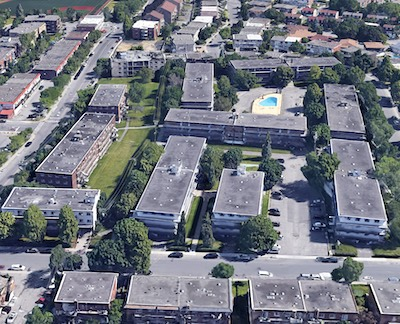 IMAGE: The 10-building, 412-apartment Domaine Choisy property in Greater Montreal has been acquired by Greyspring Apartments. (Google Maps)
