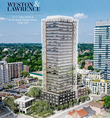 IMAGE: This corner site at 13-21 John St. and 36-40 South Station St. in Toronto's Weston neighbourhood in on the sale block. (Courtesy JLL)