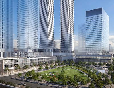IMAGE: The Sugar Wharf mixed-use project is one of Menkes major developments in Toronto's downtown east neighbourhood. (Courtesy Menkes)