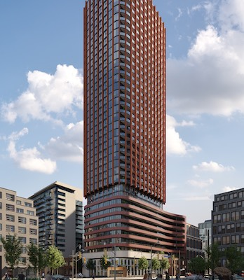 IMAGE: Menkes is developing The Whitfield at the corner of Front and Sherbourne streets. (Courtesy Menkes)