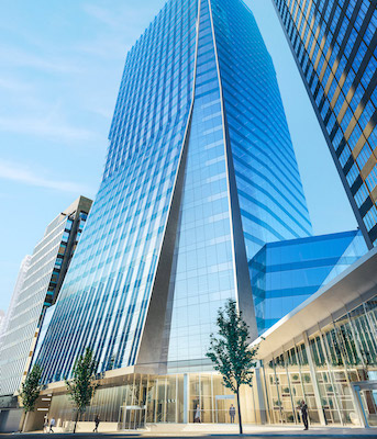 IMAGE: The Vancouver Centre II office tower will be the first to open among the coming wave of new office properties in the city's downtown area. (Courtesy GWL Realty Advisors)