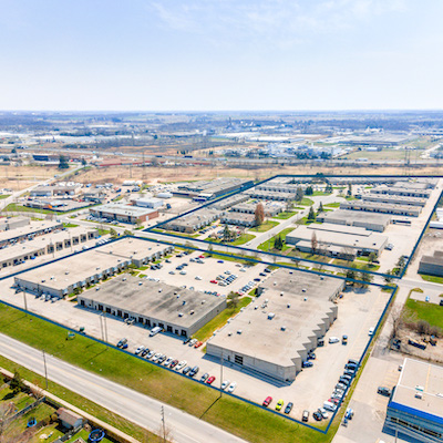 IMAGE: The Newbold industrial park in London, Ont., has been acquired by Epic Investments Services on behalf of an institutional client. (Courtesy Epic)