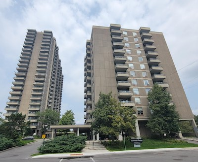 IMAGE: The Island Park Towers apartment properties in Ottawa have been sold to Homestead Land Holdings. (Courtesy Homestead)