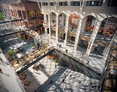 IMAGE: The retail atrium of The Well in Toronto. (Courtesy CBRE)