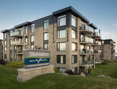 IMAGE: CAPREIT has acquired three apartment buildings, comprising 260 units, overlooking the St. Lawrence River in Quebec City. (Courtesy CAPREIT)