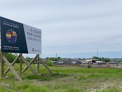 IMAGE: A tract of vacant land, owned by the National Capital Commissin in east Ottawa, is being turned into a new industrial business park by local developer Avenue31. (Courtesy Avenue31)