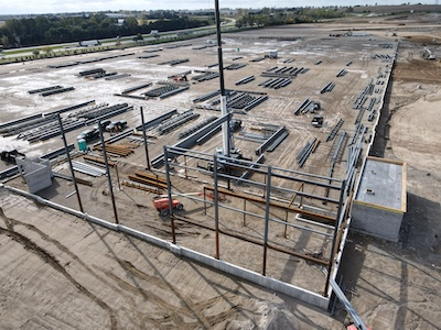 IMAGE: Vicano Developments is building this 500,000-square-foot distribution centre for Ford in the community of Paris, just outside Brantford, Ont. (Courtesy County of Brant)