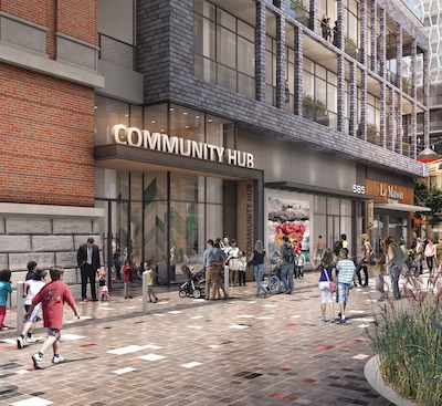 IMAGE: Hazelview, Fitzrovia and AIMCo will be involved in the various aspects of a mixed-use development at Bloor and Dufferin streets in Toronto. (Courtesy Hazelview)