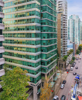 IMAGE: 1138 Melville Street in downtown Vancouver (Courtesy Starlight Investments)